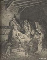 Image: The nativity , Paul Gustave Doré 's Bible Illustrations, 057 صورة الميلاد، جوستاف دوريه