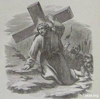 Image: Jesus bearing the cross