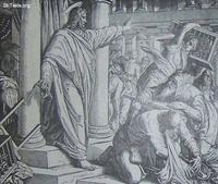 Image: Jesus drives out the money changers