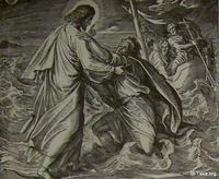 Image: Jesus supports the sinking Peter