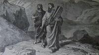 Image: Moses and Joshua bearing the law