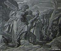 Image: Moses destroys the tables of the law