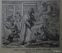 Image: Noah commanded to build the ark