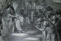 Image: Solomon receiving the homage of the princes of Israel
