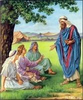 Image: 03 Abraham feeds three guests