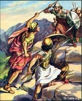 Image: 21 Jonathan and his armorbearer attack the Philistines