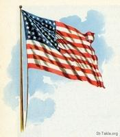 Image: 32 United States of America Flag waving in wind