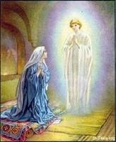 Image: 42 Mary is visited by the angel Gabriel