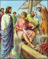 Image: 49 Jesus calls James and John while they were mending nets