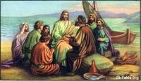 Image: 50 Jesus eats breakfast with his disciples
