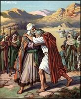 Image: 07 Jacob and Esau meet