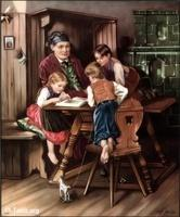 Image: 21 Father and children around a table
