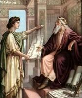 Image: 26 David gives Solomon plans for the Temple