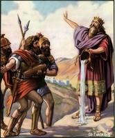 Image: 31 David refuses the water his mighty men brought him