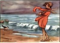 Image: 32 Sandpiper on the beach God commands the wind and waves