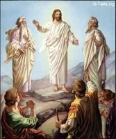 Image: 39 Jesus transfigured on the mountain with Moses and Elijah