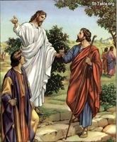 Image: 58 Jesus on the road to Emmaus