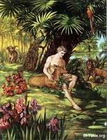 Image: adam in the garden of eden