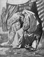 Image: isaac blesses jacob