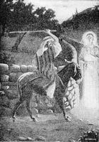 Image: the angel meets balaam in the way