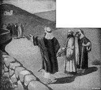 Image: a company of prophets meet saul