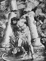 Image: samson pulling down the temple
