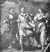 Image: the women meeting david with dancing and singing