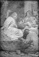 Image: a woman washing the feet of jesus