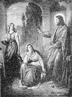 Image: jesus at the home of mary and martha