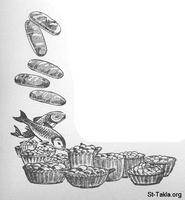 Image: 10 2 Five loves and two fish becomes twelve baskets of leftovers