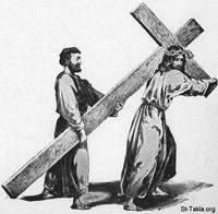 Image: 19 Simeon of Cyrene carries the cross
