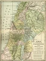 Image: Life of Christ by Canon Farrar 1894 003 Map of Palestine or The Holy Land
