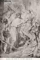 Image: Life of Christ by Canon Farrar 1894 007 Bearing His Cross to Calvary