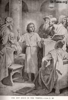 Image: Life of Christ by Canon Farrar 1894 009 pg68 The Boy Jesus in the Temple