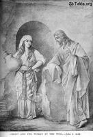 Image: Life of Christ by Canon Farrar 1894 017 pg101 Christ and the Woman at the Well