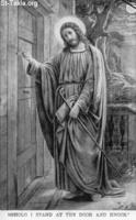 Image: Life of Christ by Canon Farrar 1894 021 pg116 Behold I stand at the door and knock