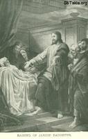 Image: Life of Christ by Canon Farrar 1894 025 pg132 Raising of Jarius' Daughter