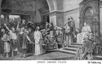 Image: Life of Christ by Canon Farrar 1894 030 pg149 Christ Before Pilate