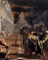 Image: 097 Tintoretto The Stealing of the Dead Body of St Mark 1562 Gallerie dell Accademia Venice صورة لوحة سرقة جسد مارمرقس، تنتوريتو