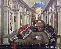 Image: Council of Trent in Santa Maria Maggiore church in Museo Diocesiano Tridentino in Trento صورة مجمع ترنت