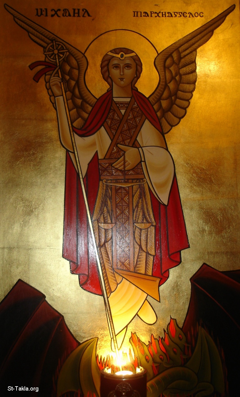 St-Takla.org Image: Archangel Michael, Coptic icon at the St. Mina Monastery Retreat House, Mariout, Egypt ���� �� ���� ������ ����: ������ ����� ���� ������ ������� �� ��� ������ �� ��� ������ǡ ����ء ���