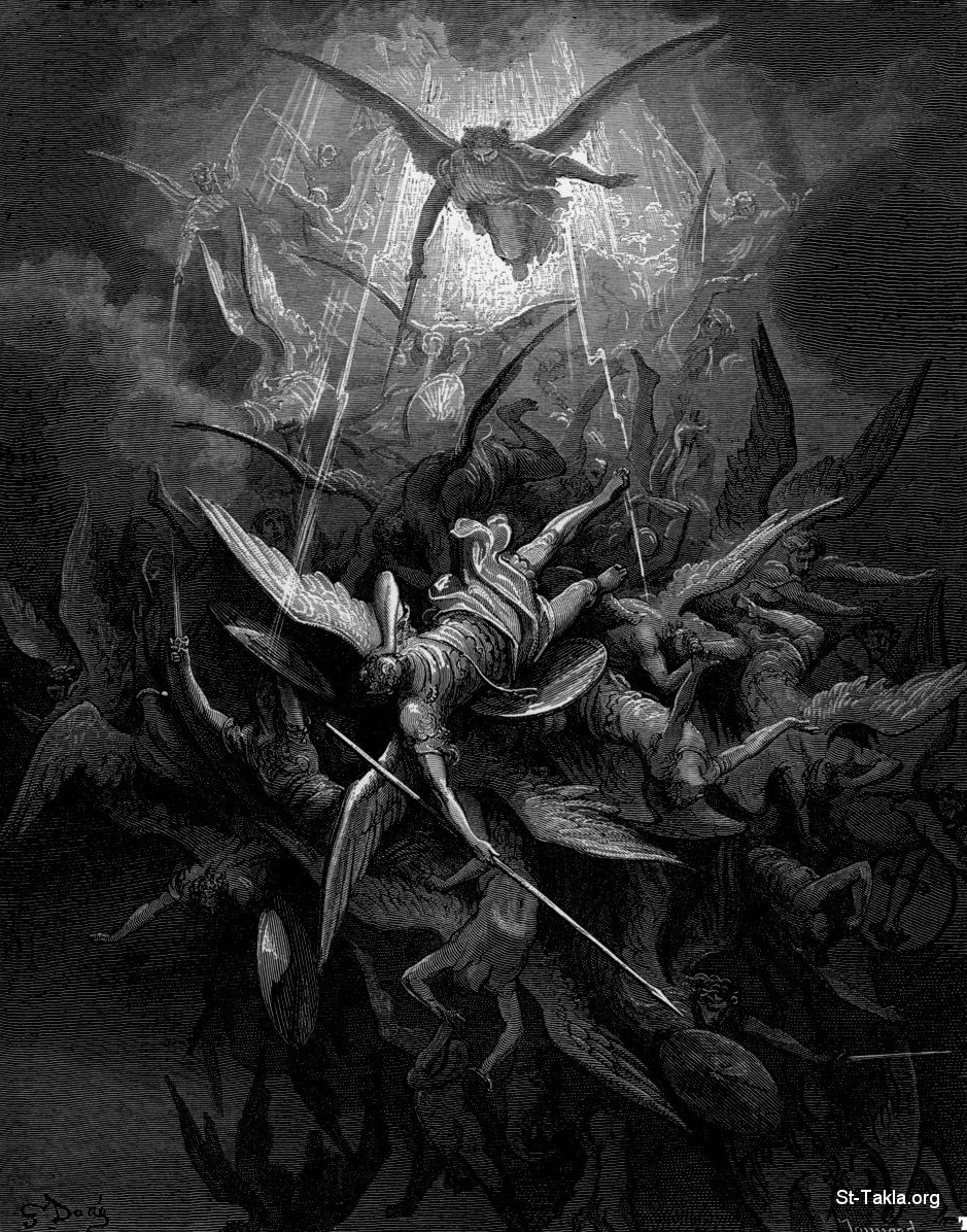 St-Takla.org Image: The fallen Angels, Lucifer and His Angels, by Gustave Dore, illustration from the Paradise Lost by Milton ���� �� ���� ������ ����: ������ ������ ������ �� ������� ���� �������ɡ ������ ������ ����� �� ���� ������� ������ϡ ������
