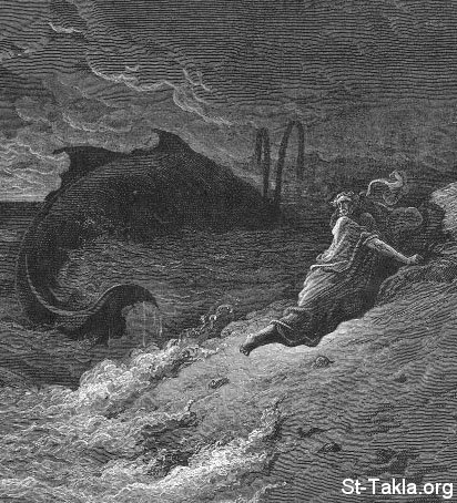 St-Takla.org Image: The whale throws Jonah ob the beach, by Gustave Dore ���� �� ���� ������ ����: ���� ������ ������� ������ ����� - ����� ���� ����� ��� ������