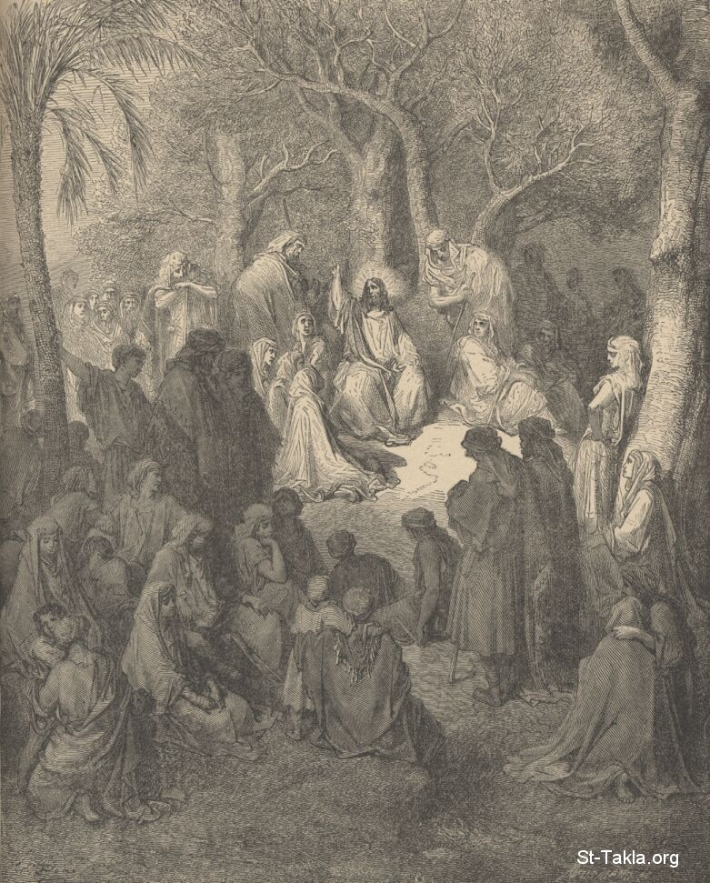 St-Takla.org Image: Sermon on the Mount, from Gustave Dore's Bible Illustrations ���� �� ���� ������ ����: ������� ��� ����� �� ����� ������ ������ ������ ������ �����