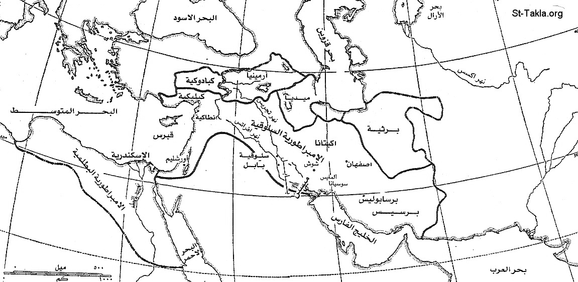 St-Takla.org           Image: Map of the places that Atiokhs the 4th headed to, to confirm their submission to him from 165-164 BC - Arabic ����: ����� 5 - ����� ������� ���� ���� ����� ������� ������ ������ ������ �� �� ��� 165� ���� ���� 164 �. �.