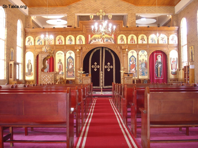 St-Takla.org Image: Coptic Orthodox Church Iconostases, Icons holder ���� �� ���� ������ ����: ���� ���� ������� �� ����� ����� ���������