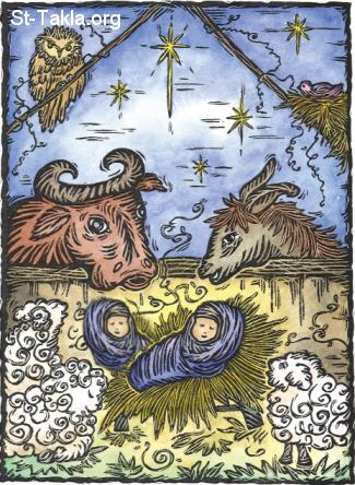 St-Takla.org Image: Two babies in a manger ���� �� ���� ������ ����: ����� �� ����!