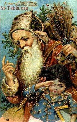 St-Takla.org Image: Saint Nicholas - Santa Clause صورة في موقع الأنبا تكلا:  القديس نيقولاوس أسقف مورا، سانتا كلوز