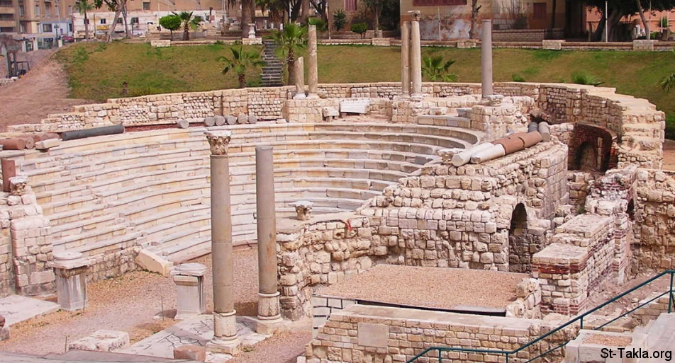 St-Takla.org         Image: The Ancient Roman Theatre in Alexandria, Egypt ����: ������ �������� ������ �� ���������ɡ ���