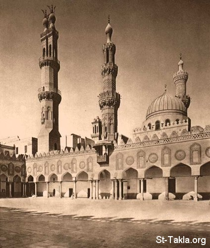 St-Takla.org Image: El Azhar Mosque in Egypt 970 AD ���� �� ���� ������ ����: ������ ������ (359-361 ��) (970 � 972 �)